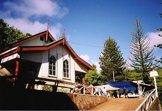 Pitcairn Islanders - Church of Adamstown.