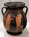 Pittore di barclay, pelike con hermes, dioniso bambino e ninfa, 450 ac ca, dalla tomba 417 della banditaccia.jpg