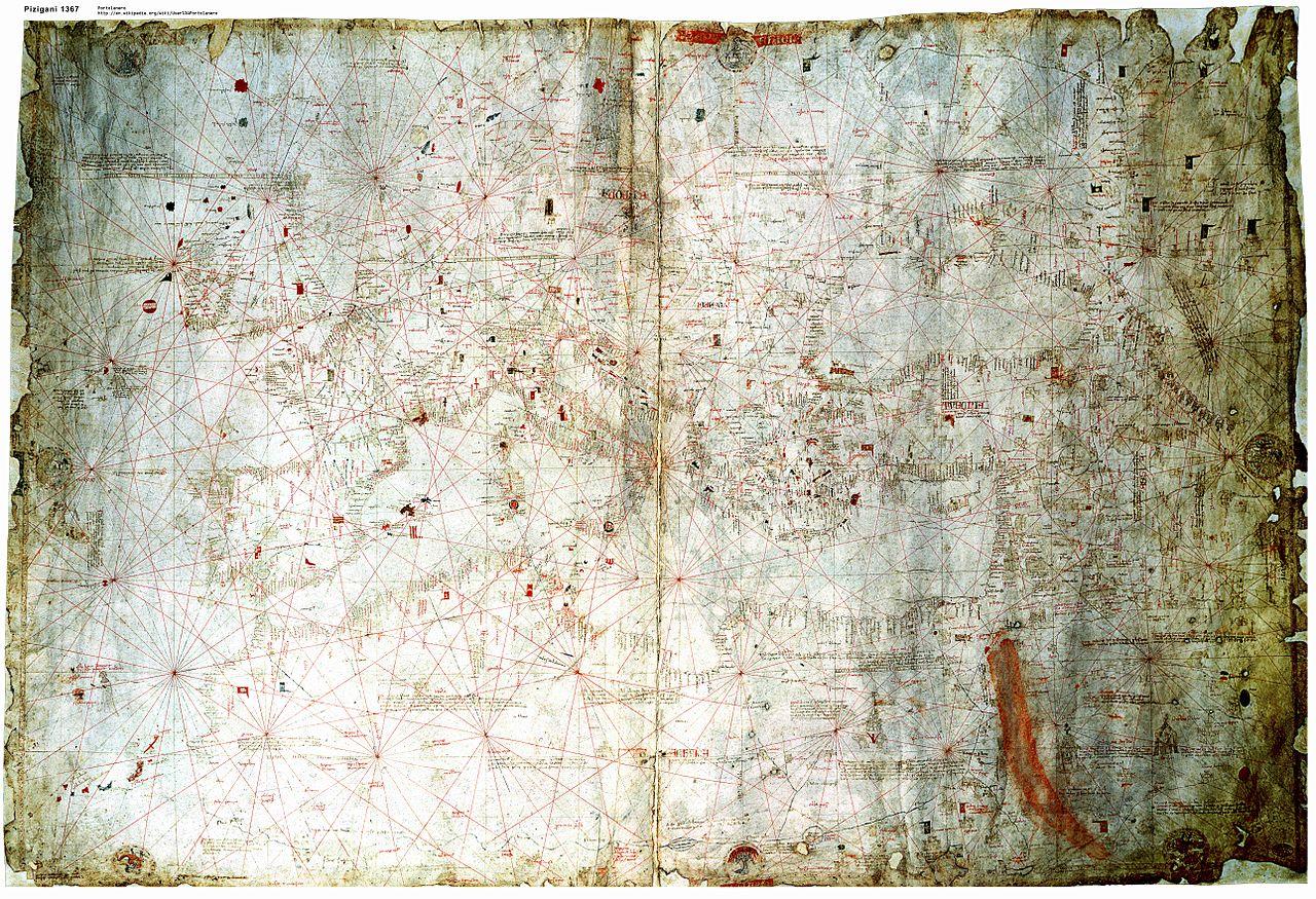 File:Pizigani 1367 Chart 10MB jpg - Wikimedia Commons