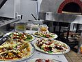 Pizzas prior to cooking - Sandbar Restaurant Mission Beach.jpg
