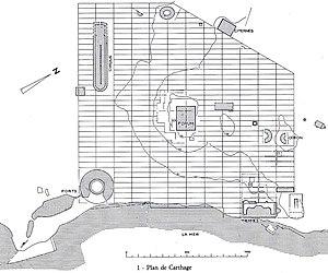 Roman Carthage - Plan of Roman Carthage