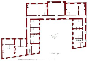 Architecture -  Plan of the second floor (attic storey) of the Hôtel de Brionne in Paris - Date:1734