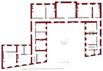 Architecture - Plan of the second floor (attic storey) of the Hôtel de Brionne in Paris – 1734.