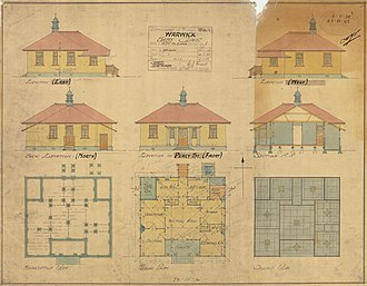 Warwick, Queensland - Architectural plan of the Warwick Baby Clinic, 1923