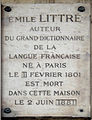 Plaque Émile Littré, 44 rue d'Assas, Paris 6.jpg