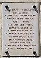 Plaque Rochambeau, 40 rue du Cherche-Midi, Paris 6e.jpg