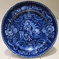 Plate with scene depicting 'Peace and Plenty' with symbols of the new democracy, J. & R. Clews, Dayton Art Institute.JPG