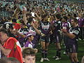 Players of Melbourne Storm after the 2007 NRL grand final.jpg