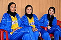 Players stand by during an Afghan women's basketball exhibition game as part of the International Youth Day celebration in Kabul, Afghanistan, Aug 110810-A-XM924-629.jpg