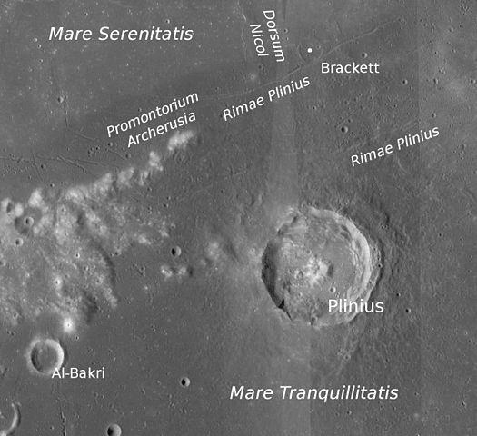 Кратер Плиний на Луне