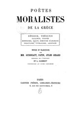 Poètes Moralistes de la Grèce