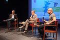 Podium- Dirk Kurbjuweit, Bernd Zabel (Moderation), Amichai Shalev (7152324015).jpg