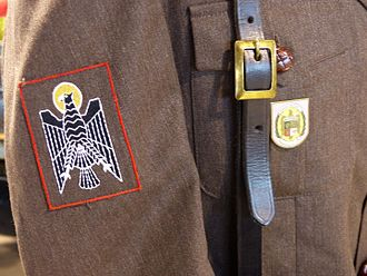 Armed Police Corps - Detail of the uniform of a Policía Armada member.