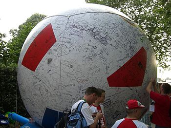 Polish football (soccer) fans - FIFA World Cup...