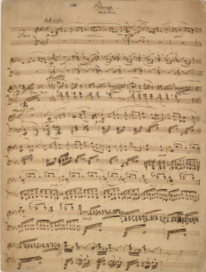 Polonia (Wagner) - Polonia Overture: holograph first page of Wagner's arrangement for piano