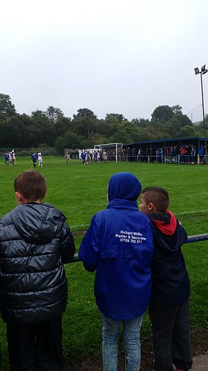 Pontefract Collieries F.C. - Terrace behind the goals