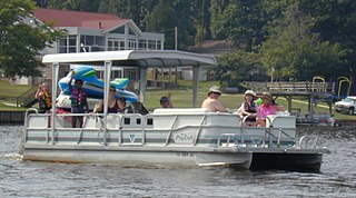 Pontoon (boat) flotation device; airtight hollow structures that is buoyant in water