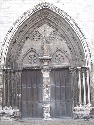 Church of Notre-Dame de Louviers - West portal and tympanum