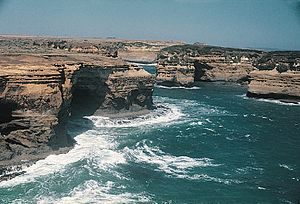 Coastal geography - Port Campbell in southern Australia is a high-energy shoreline.
