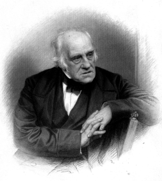 Henry Crabb Robinson - 1869 engraving by William Holl the younger after a photograph of Crabb Robinson.