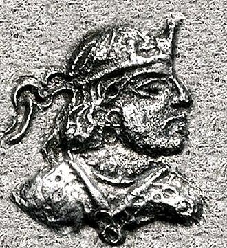 Paratarajas - Image: Portrait of Paratarajas ruler Kozana circa 200 220 CE