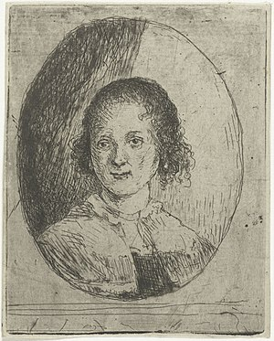 Christina Chalon - Portrait of Christine by her brother Jan Chalon