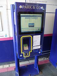 Potters Bar railway station Park & Go machine 2.JPG