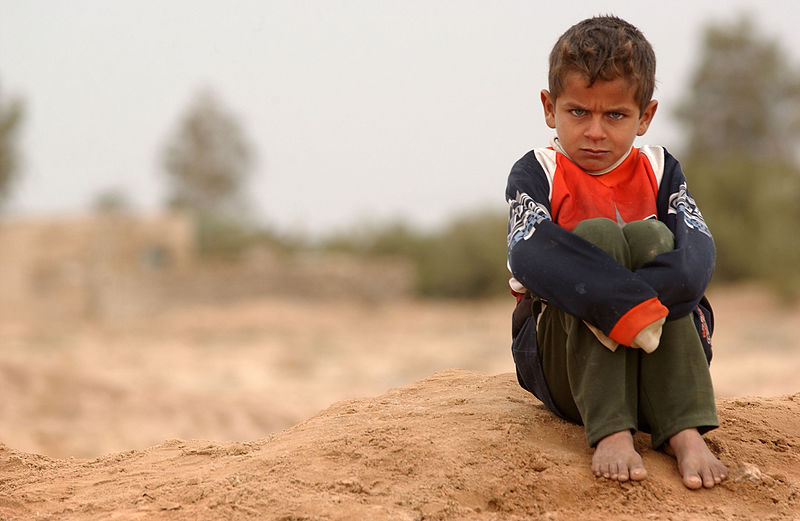File:Pouting boy in Shamar, Iraq.jpg