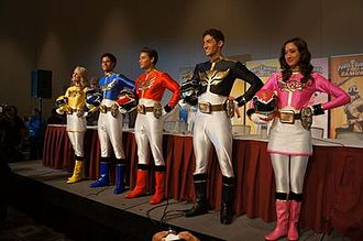 Power Rangers Megaforce - The Megaforce cast at the Power Rangers fan convention Power Morphicon in 2012.