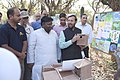Prakash Javadekar and the Minister of Environment and Forest, Delhi, Shri Imran Hussain looking at the exhibition put up by school children, on the occasion of the International Day of Forests, at Asola Bhatti sanctuary.jpg