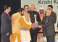 Pranab Mukherjee presented the Krishi Karman Awards 2011-12 to State Governments for exemplary performance in increasing food grain production, at a function, at Rashtrapati Bhawan (1).jpg