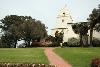 Old Town, San Diego - The Serra Museum in Presidio Park marks the original site of the Presidio and Mission