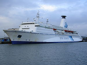 Sponson - MS Princess of Scandinavia, a cruise-ferry with a side sponson