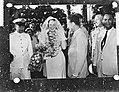Prinses Beatrix als Hindoestaanse verkleed in Suriname, Bestanddeelnr 909-3760.jpg