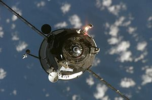 Progress M-59 - Progress M-59 approaching the ISS