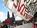 Protesta en favor de los profesores de Oaxaca, en la plaza principal de Aguascalientes (junio, 2016) 38.jpg