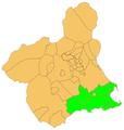 Provincia de cartagena dins de la Regió de Múrcia.png
