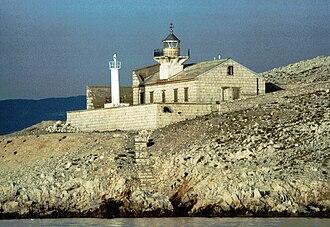 Prvić (Krk) - Stražica Lighthouse was built on the island in 1875.