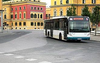 Bus lines in Tirana - Image: Public Bus Transportion Tirana 2016
