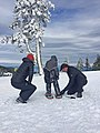 Putting on Snowshoes, Rogue River Siskiyou National Forest (25258640175).jpg
