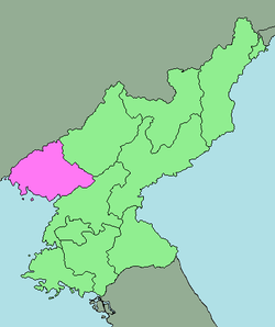 Location of North Pyongan Province