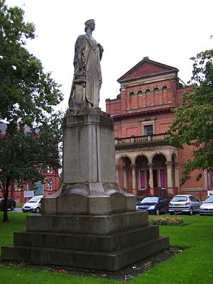 Peel Park, Salford - Statue of Queen Victoria in front of the Salford Museum and Art Gallery