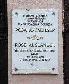 Rose Ausländer Wikipedia