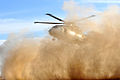 RAF Merlin Helicopter Creates a 'Brownout' Dust Cloud Landing in Afghanistan MOD 45153504.jpg