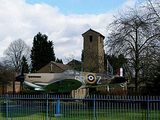 London Biggin Hill Airport - St George's Chapel of Remembrance, with a replica Spitfire outside
