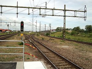 Freight Line Through Skåne - The Freight Line (left) and the Råå Line at Teckomatorp