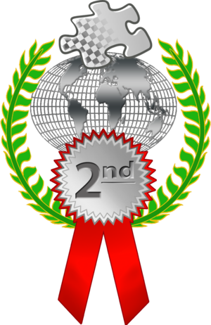 English: 22nd place ribbon for a race