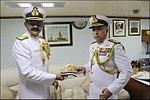 Radm MA Hampiholi, NM taking over helm of Western Fleet from Radm RB Pandit onboard flagship INS Trishul.jpg