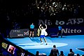 Rafa Nadal exits O2 Arena after defeat to defending champion Alexander Zverev at Nitto ATP Finals 2019 (49052005756).jpg
