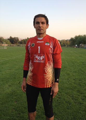 Rahman Ahmadi - Ahmadi in training with Sepahan in  2013